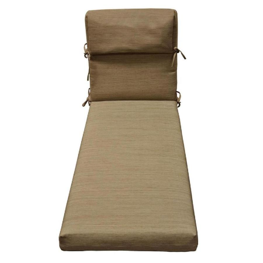 lowes outdoor chair cushions recycled plastic adirondack chairs allen roth 1 piece natural wheat patio chaise lounge cushion