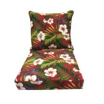 Garden Treasures Red Floral Cushion Deep Seat