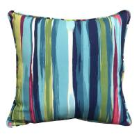 Shop allen + roth Stripe and Striped Square Throw Pillow ...