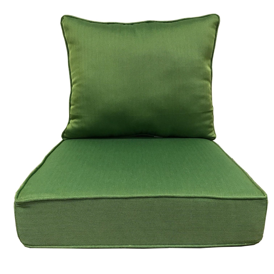 green chair cushions zero gravity with side table allen roth 2 piece solid deep seat patio cushion at