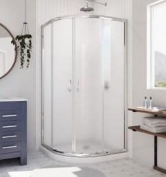 dreamline prime white floor round 2 piece corner shower kit actual 74 75  [ 900 x 900 Pixel ]