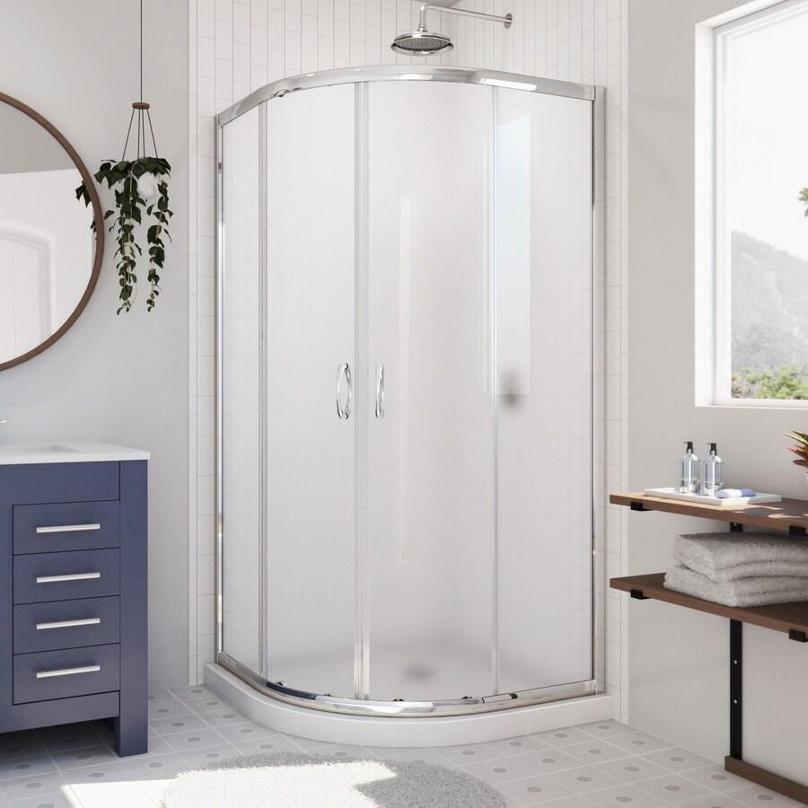 medium resolution of dreamline prime white floor round 2 piece corner shower kit actual 74 75