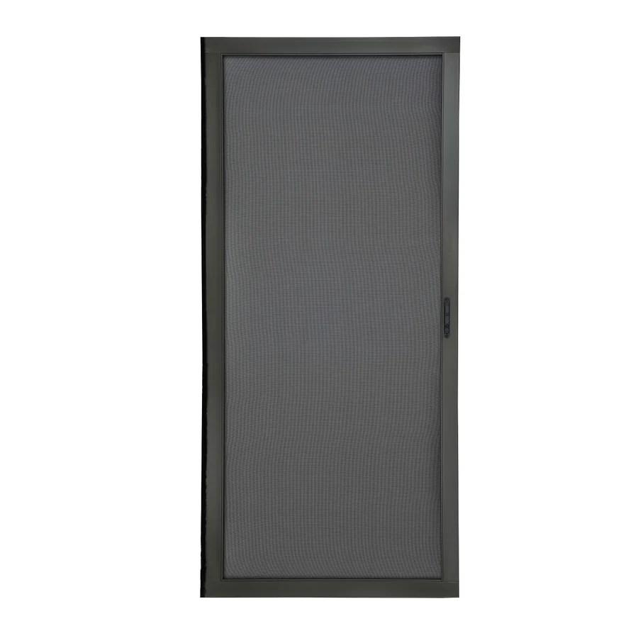 grisham 36 in x 80 in bronze aluminum frame sliding screen door lowes com