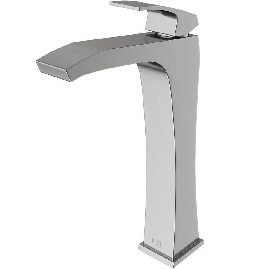 vigo blackstonian brushed nickel 1 handle vessel watersense bathroom sink faucet