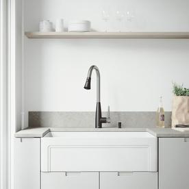 lowes white kitchen sink 33x22 apron front farmhouse sinks at com vigo matte stone 33 in x 18 single basin