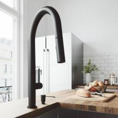 Black Faucet Kitchen Outdoor Counter Depth Faucets At Lowes Com Vigo Greenwich Matte 1 Handle Deck Mount Pull Down