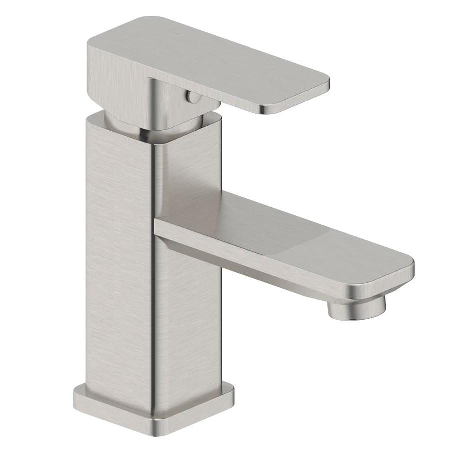 Modern Faucets For Bathroom Sinks Modern Brush Nickel 1 Handle Single Hole 4 In Centerset Watersense