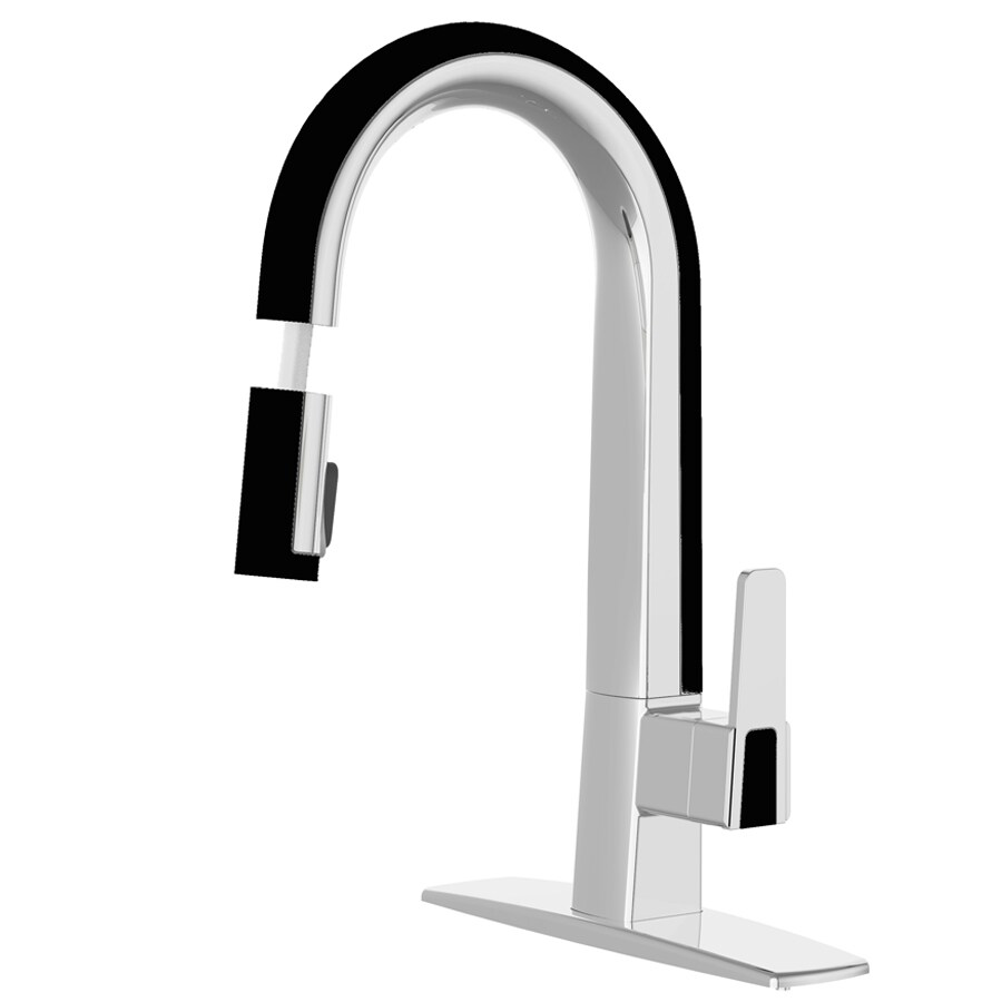 kitchen faucet black how much does a sink cost cleanflo matisse chrome and 1 handle deck mount pull down