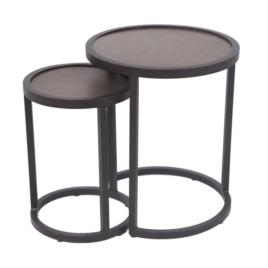 allen roth caledon round outdoor end table 18 in w x 18 in l with lowes com