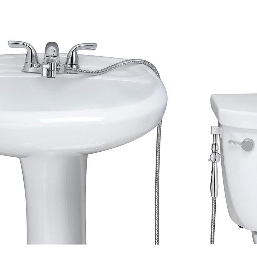 aquaus chrome faucet mounted handheld bidet sprayer