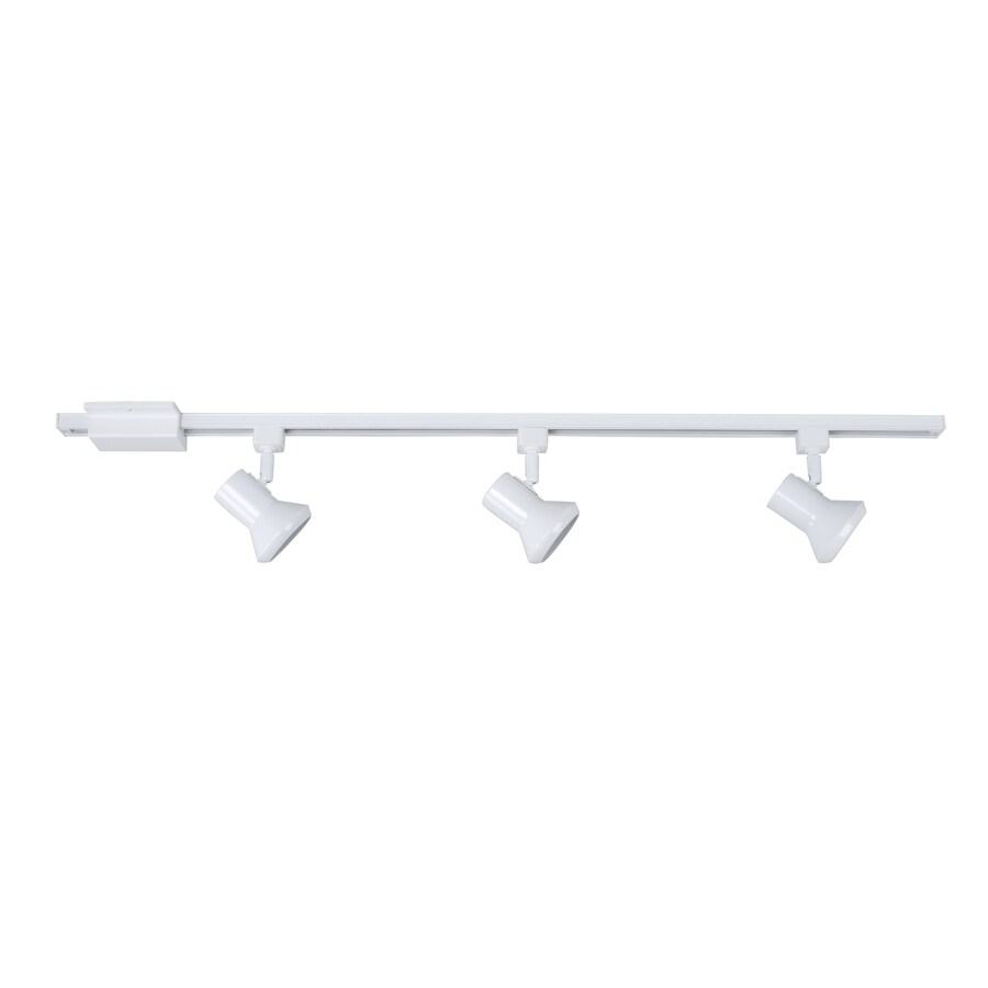 lowes lights for kitchen budget cabinets shop project source 3-light 42-in white step linear track ...