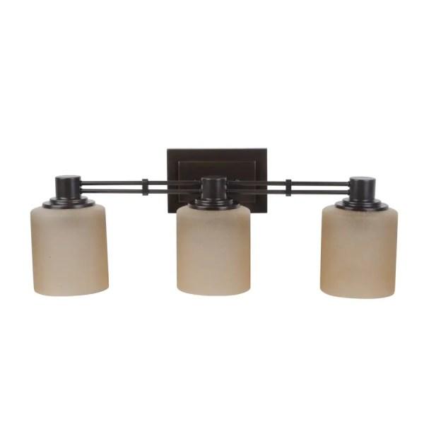Portfolio Lunenbeck 3-light 23.5-in Oil Rubbed Bronze Cylinder Vanity Light