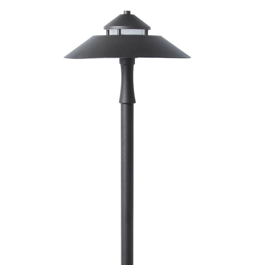 portfolio 7 watt specialty textured bronze low voltage led path light lowes com