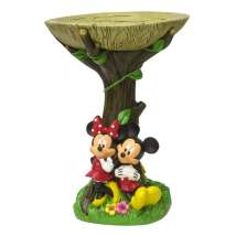 Disney Mickey And Minnie Birdbath