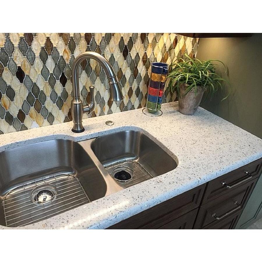 recycled glass kitchen countertops appliance suites curava savaii countertop sample at lowes com