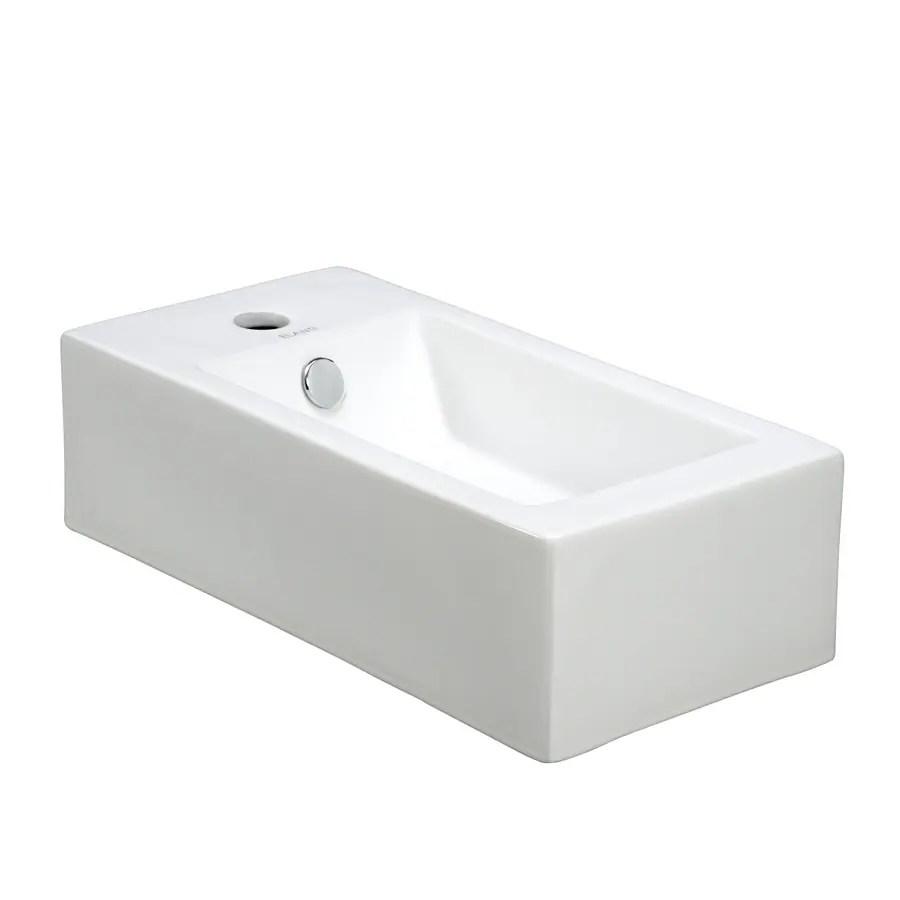 Elanti White WallMount Rectangular Bathroom Sink with
