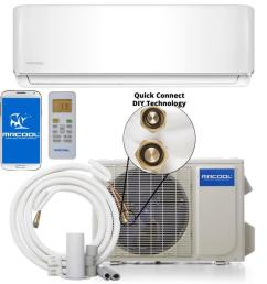 mrcool do it yourself 18000 btu 750 sq ft single ductless mini split air conditioner with heater [ 900 x 900 Pixel ]