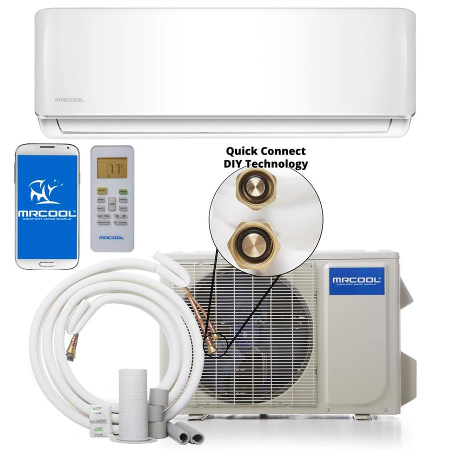 hight resolution of mrcool do it yourself 18000 btu 750 sq ft single ductless mini split air conditioner with heater