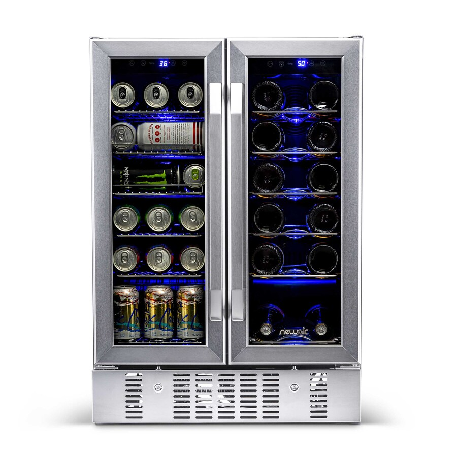Shop NewAir 18Bottle Stainless Steel And Black Dual Zone