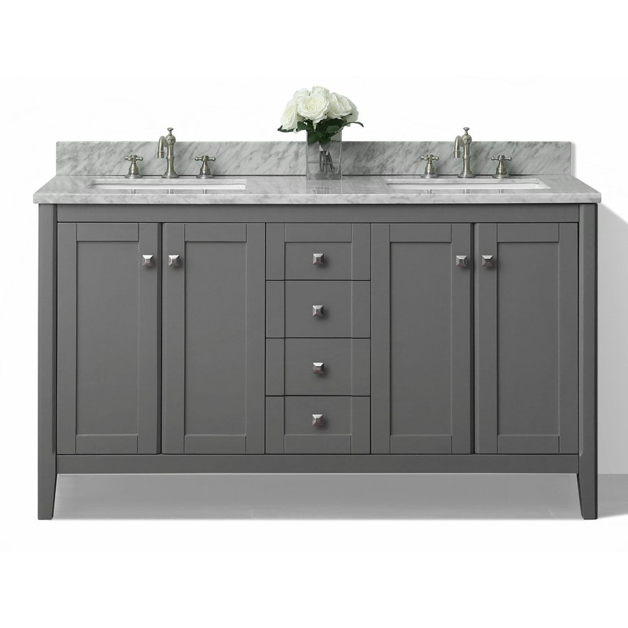 Small Bathroom Vanities With Sink Ancerre Designs Shelton 60 In Sapphire Gray Double Sink Bathroom