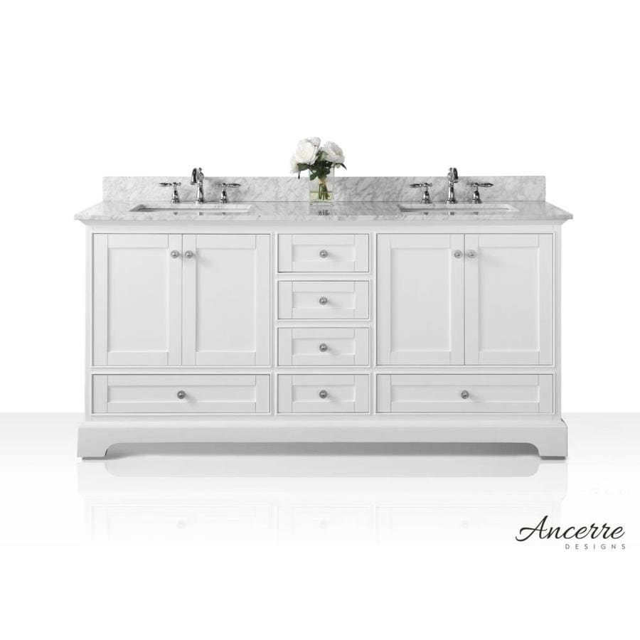 shop ancerre designs audrey white undermount double sink bathroom