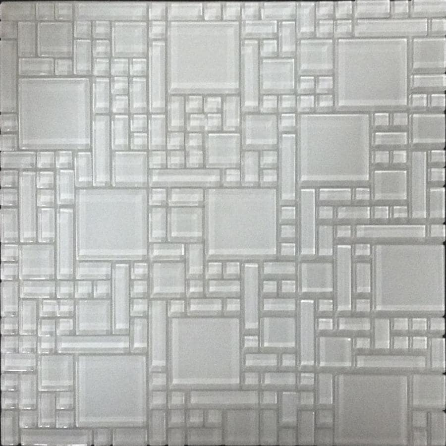 instant mosaic white 12 in x 12 in multi finish glass versailles peel and stick tile