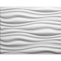 Shop threeDwall 31.4-in x 2.05-ft Embossed Off-white ...
