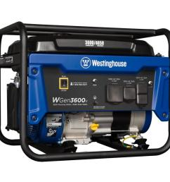 westinghouse wgen 3600 running watt portable generator with westinghouse engine [ 900 x 900 Pixel ]