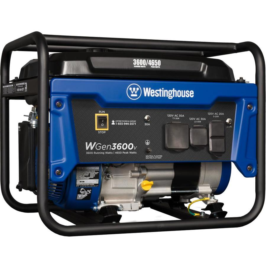 medium resolution of westinghouse wgen 3600 running watt portable generator with westinghouse engine