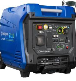 westinghouse igen 4500 watt inverter gasoline portable generator [ 900 x 900 Pixel ]