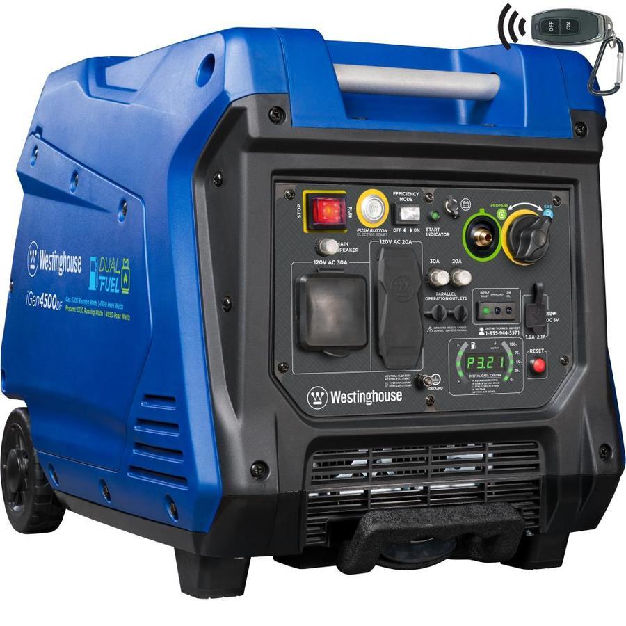 medium resolution of westinghouse igen 4500 watt inverter gasoline portable generator