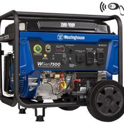 westinghouse wgen 7500 running watt gasoline portable generator [ 900 x 900 Pixel ]