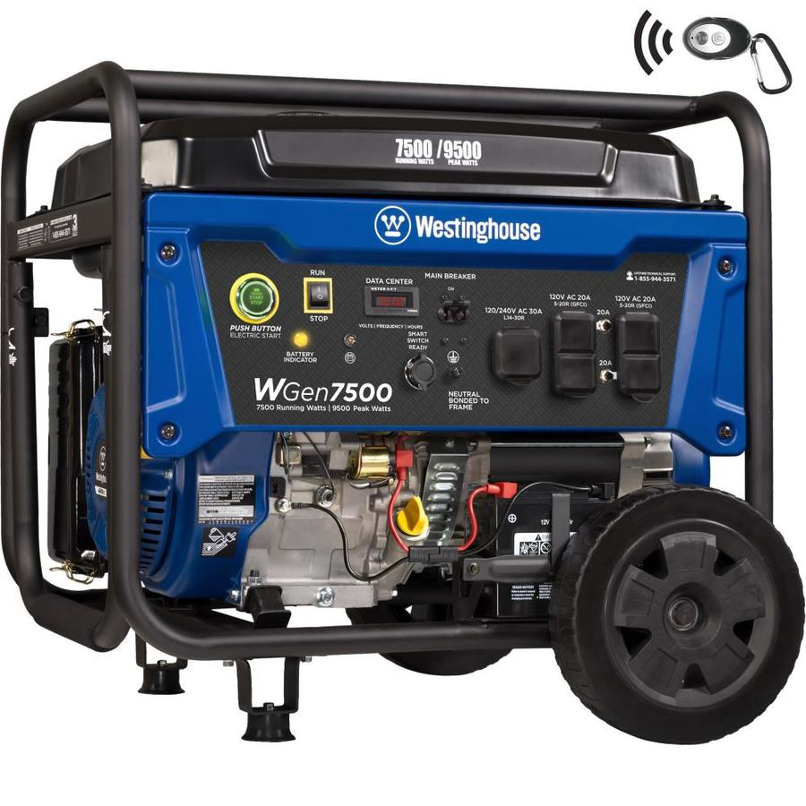 medium resolution of westinghouse wgen 7500 running watt portable generator with westinghouse engine
