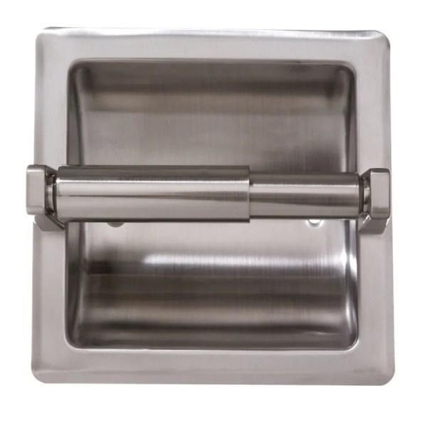 Arista Satin Nickel Recessed Toilet Paper Holder