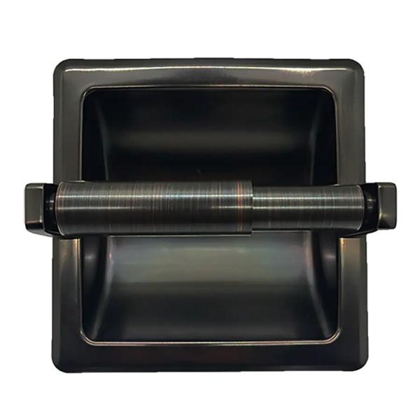 Arista Oil-rubbed Bronze Recessed Toilet Paper Holder