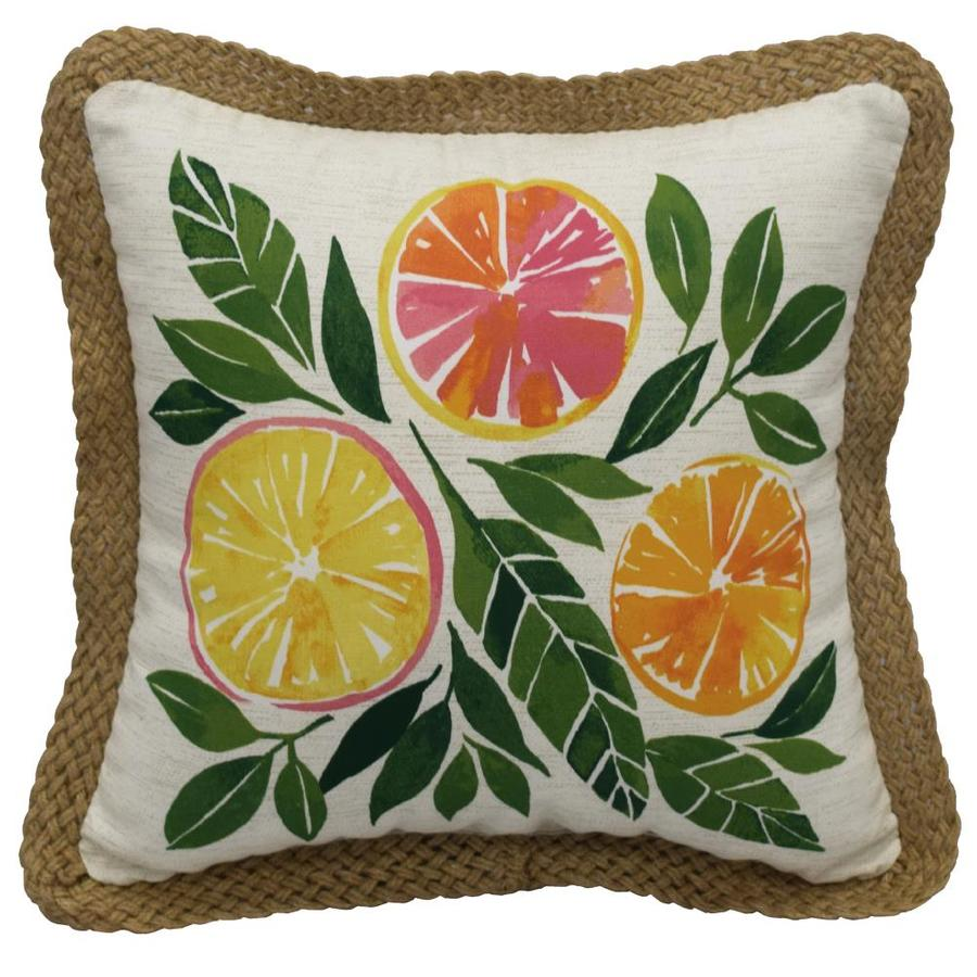allen roth floral multi color square throw pillow