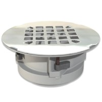 Shop WingTite 2-in dia Chrome PVC Shower Drain at Lowes.com