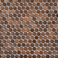 Shop Style Selections 5-Pack Bronze Penny Round Mosaic ...