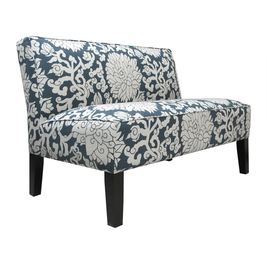 Sears Accent Chairs Skyline Furniture Clark Collection Smoke Textured Settee At Lowes