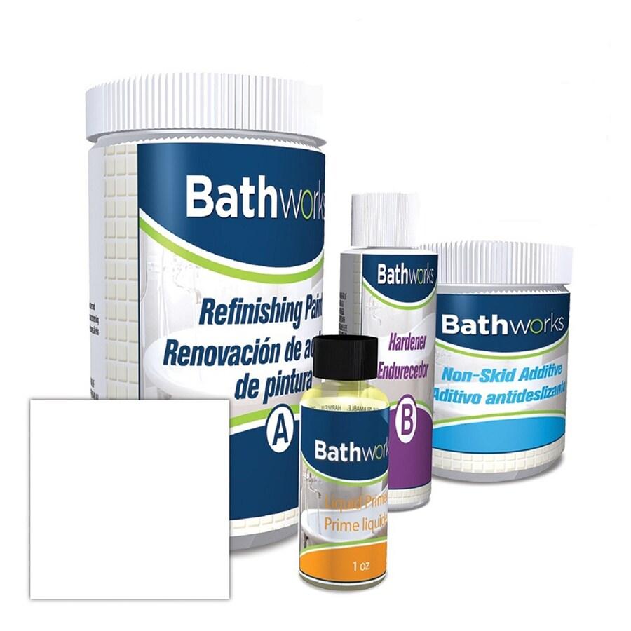 bathworks white high gloss anti skid tub and tile resurfacing kit 1 pint
