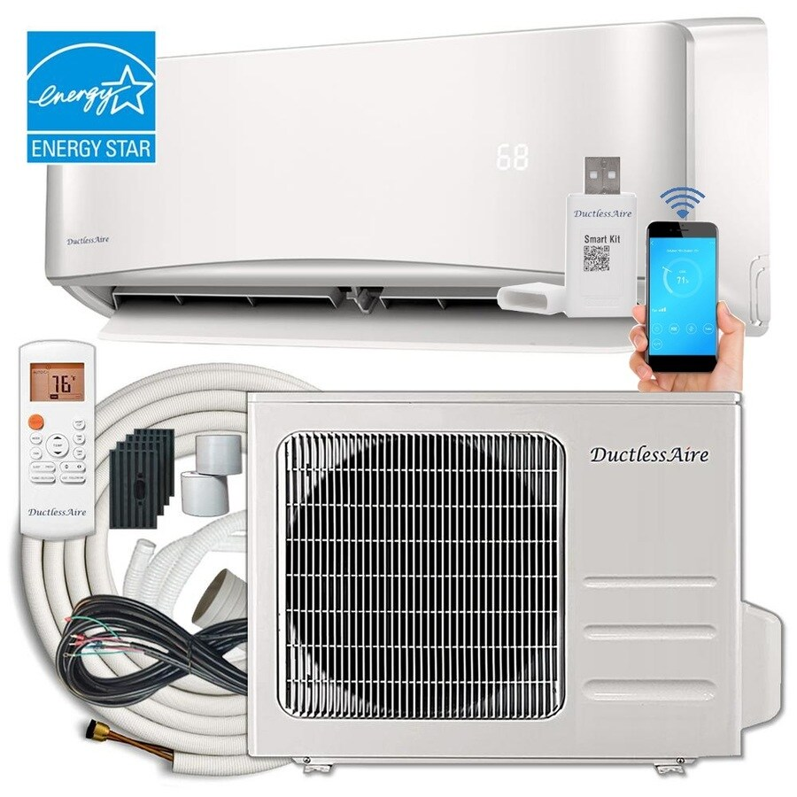 hight resolution of ductlessaire energy star 12000 btu 500 sq ft single ductless mini split air conditioner