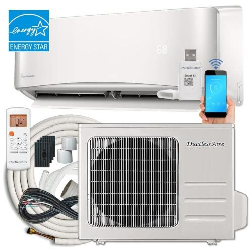 small resolution of ductlessaire energy star 24000 btu 1000 sq ft single ductless mini split air conditioner with heater