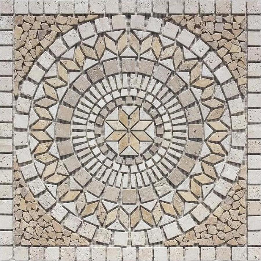 Shop Marmaris 502 Multi Color Mosaic Floor Tile Common