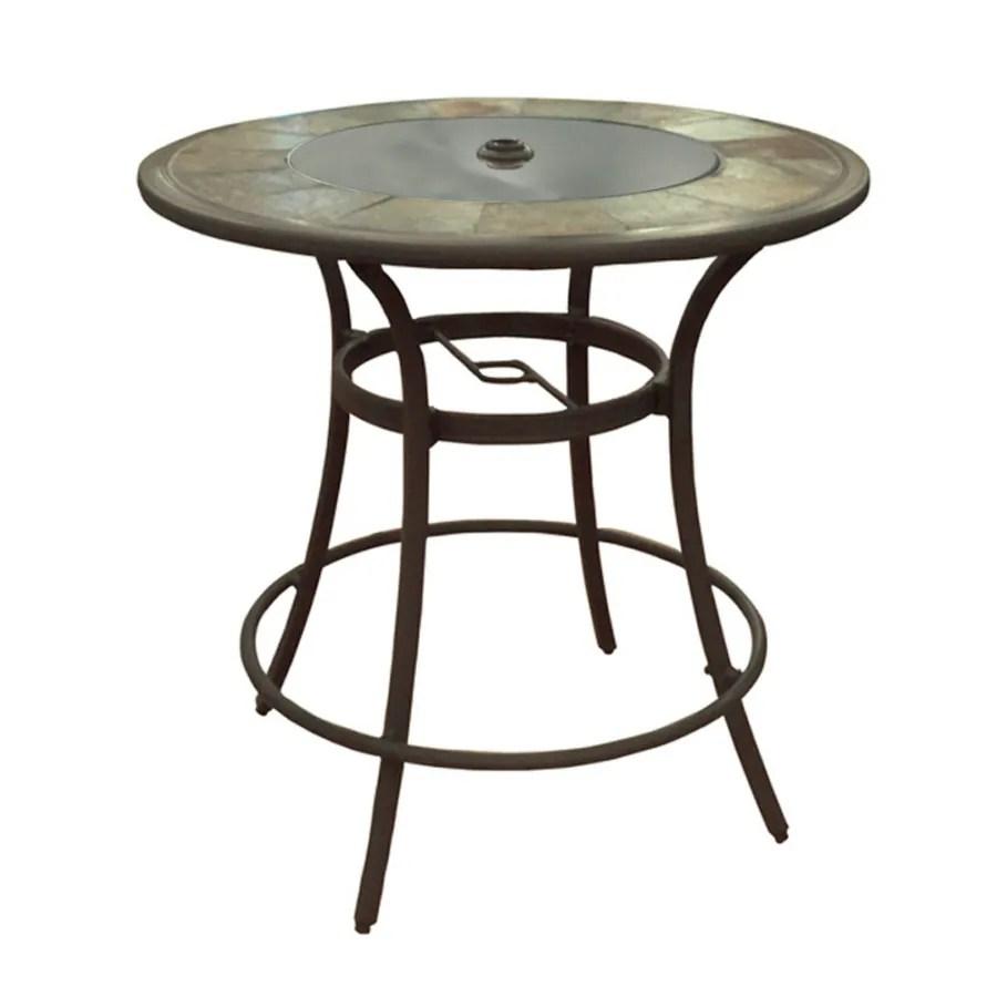 allen roth safford 40 in w x 40 in l round bar table