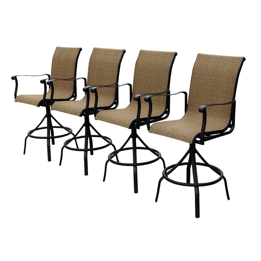 patio chairs at lowes rocking chair nursery target allen roth safford brown aluminum barstool com