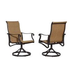 Patio Chairs At Lowes Desk Chair Without Wheels Allen Roth Safford 2 Count Brown Aluminum Dining