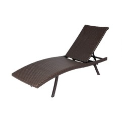 Pool Chairs Lowes Recover A Chair Allen Roth Brown Wicker Folding Chaise Lounge At Com