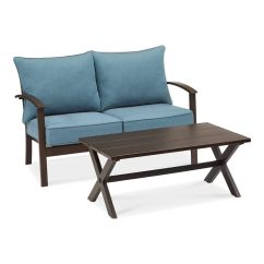 Ethan Allen Palm Grove Chair Ikea Fold Away Table And Chairs Patio Furniture At Lowes Com Roth Atworth 2 Piece Frame Conversation Set With Peacock Blue Cushions