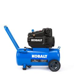 kobalt 8 gallon portable 150 electric horizontal air compressor [ 900 x 900 Pixel ]