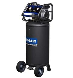 kobalt quiet tech 26 gallon portable electric vertical air compressor [ 900 x 900 Pixel ]